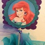 mala sirena, arijel, dekoracija za rodjendan, stapic sa likom