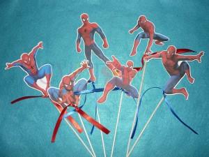 spiderman, spajdermen, slika na stapicu, stapici za rodjendan, dekoracija