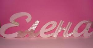 3D slova, imena od stirodura