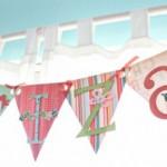 rođendanske zastavice, slova, ukrašavanje