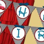 zastavice za zid, cars, rođendanska dekoracija