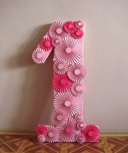 3d brojevi, papirne lepeze, rozete