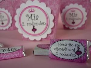cokoladice princeza, dekoracija rodjendana cokolada