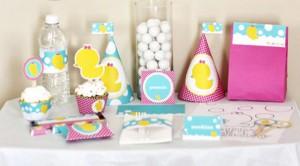 dekoracija za rodjenje deteta, baby slatki sto