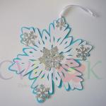 pahulja kao dekoracija na temu frozen, viseca dekoracija za rodjendan frozen