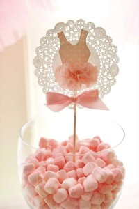 rodjendanska dekoracija na temu balerina, dekorativni stapic balerina
