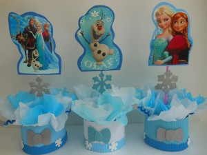 likovi frozen, olaf, ana, elza, slike na stapicu, rodjendanska dekoracija