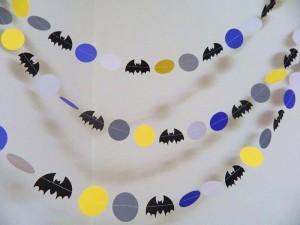 dekoracija rodjendana, deciji rodjendani, batman, viseci ukrasi, trake