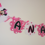rodjendanski natpis na temu mini maus pink