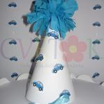 kapa sa auticima, kape za rodjendane sa cubom na temu plava buba