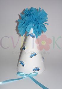 rodjendanska kapa sa papirnom cubom, kapica sa auticima
