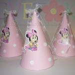 kape za rodjendan mini maus, beba mini kapice, roze mini kape za rodjendane