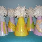 rodjendanske kape, kape za rodjendan sa papirnom cubom, dekoracija, deciji rodjendani, rodjendanska dekoracija