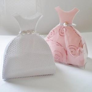 kutije haljine kao dekoracija za rodjendan, kutijice za poklone u obliku haljine