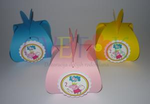 kutije za poklone pepa prase, dekoracija rodjendana na temu pepa prase, kutije za poklone za deciji rodjendan