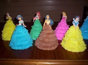lutke od salveta, papirne lutke, diznijeve princeza, dekoracija za rodjendan