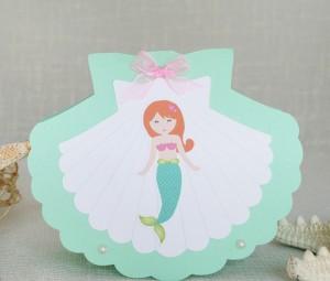 mala sirena, rodjendanska pozivnica, cestitka za rodjendan