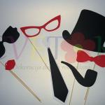 foto-rekviziti za zabave, maske na stapicu za rodjendane