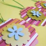 cvet, medaljon, ogrlica, tag, deciji rodjendani, dekoracija