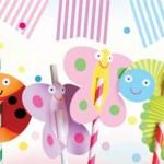 deciji rodjendan, dekoracija, bubice, slamcice, sokovi