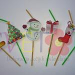 slamcice za novogodisnju dekoraciju, dekoracija slatkog stola za novu godinu slamke