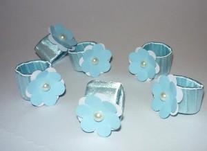 prstenje za salvete, salvete, dekoracija, rodjendanski sto, prsten