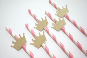 kruna, princeza, dekorativne slamke