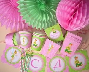 petar pan, zvoncica, dekoracija rodjendana, sarene slamcice