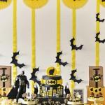 slatki sto batman, betmen dekoracija, ukrasavanje stola za rodjendan batman