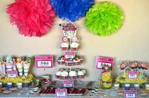 kapkejk dekoracija, ukrasavanje stola za rodjendan