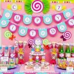 lollipop dekoracija, slatki sto na temu lizalica