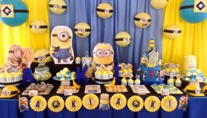 crtani film minions, malci, rodjendan, dekoracija, slatki sto, kolaci