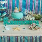okean dekoracija za igraonice, slatki sto na temu okean