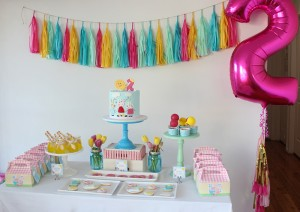 pepa prase, kolaci, rodjendanski sto