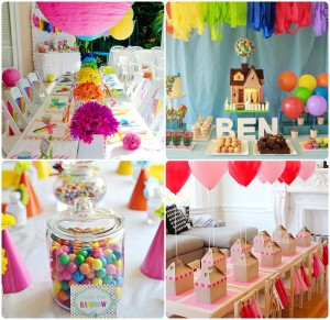 slatki sto u duginim bojama, sareni sto za decije rodjendane