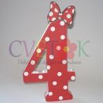 ukrasna slova za rodjendan, broj od stirodura mini maus
