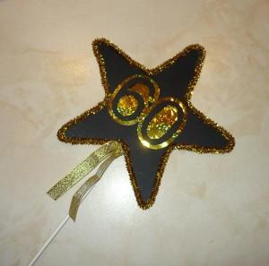 dekoracija rodjendana, zvezda, ukras, stapici, deciji rodjendani