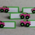 kamion, kartica, oznake za stolove, deciji motivi