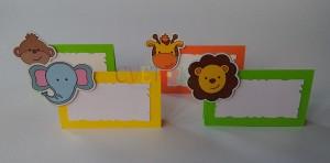 safari zivotinje dekoracija za rodjendan, kartice za stolove za deciji rodjendan