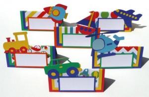 kartice za oznacavanje stolova za deciji rodjendan, oznake za stolove i posluzenje autici kamioni