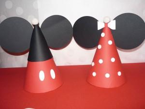 rodjendanske kape, kapa miki, kapa mini, dekoracija rodjendana, rodjendanska dekoracija, kapice, mini maus, miki maus