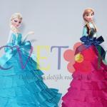 dekorativni stapici frozen, papirne lutke ana i elza frozen, dekoracija za slatki sto elza i ana