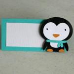 pingvin, deciji motivi, kartice za stolove, kartica, deca, rodjendan