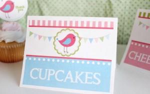 kartice za stolove, ptica, pticice, rodjendan, dekoracija stola