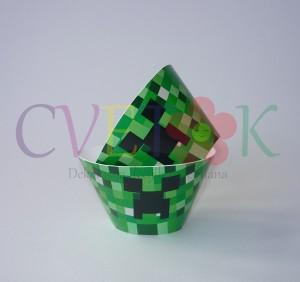 omoti za mafine minecraft, kutije za kapkejk minecraft, minecraft korpice za kolace kao dekoracija rodjendana