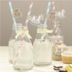 flasice dekoracija za prvi rodjendan na temu konjic, ukrasne slamcice za deciji rodjendan