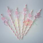 dekorativne slamke balerina, slamcice kao dekoracija za rodjendan
