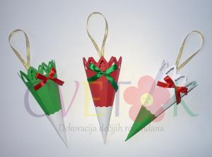 fiseci za kokice kao novogodisnja dekoracija, dekorativni fiseci za poklone za novu godinu
