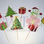 toperi za kapkejk sa novogodisnjim motivima, novogodisnja dekoracija za kolace, toperi za novu godinu