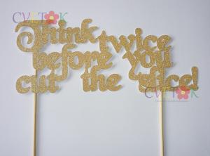 zlatni natpis za tortu